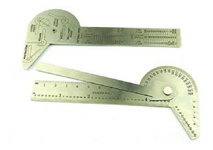 Engineers Protractor Square Rule, Centre Finder, Circle Divider, Drill Point Gauge. D8043